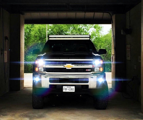 2014-2018 Chevrolet Silverado / GMC Sierra 1500 2500 LED Headlights (High, Low, Fog) - OffroadLEDbars