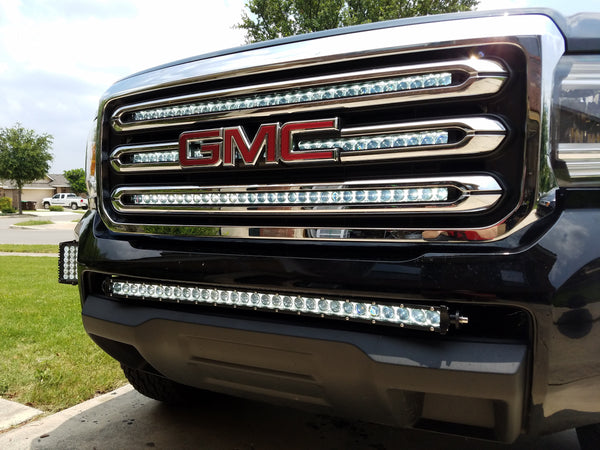 2016 2019 Chevy Colorado Or Gmc Canyon 30 Inch Single Row Light Bar 150 Watts With Mounts