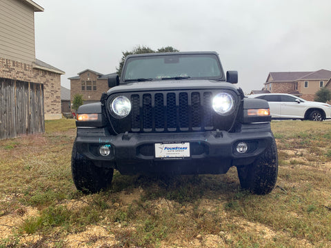 2007 through  2020 Jeep Wrangler Gladiator LED Headlights (High/Low, Fog)