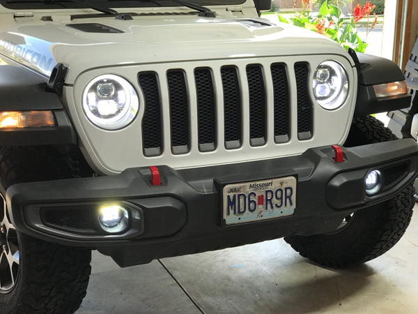 TRUE 9 inch DRL Halo LED HEADLIGHTS FOR JEEP WRANGLER JL 2018 2019