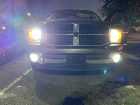 2002-2008 Dodge Ram Led Headlights and foglights WITH resistor - OffroadLEDbars
