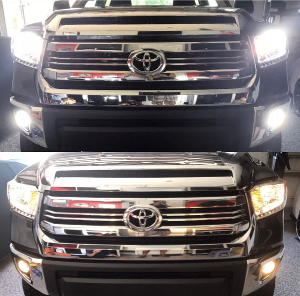 2015 2016 2017 2018 2019 Toyota Tundra LED Headlights (High/Low, Fog)