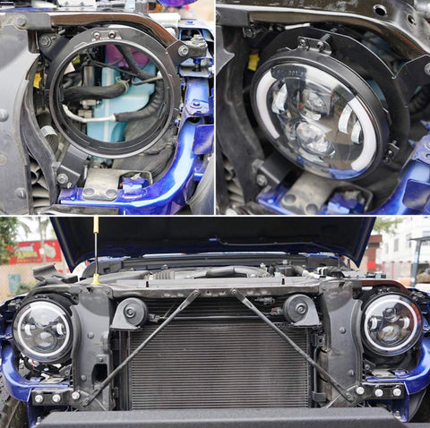 Jeep JL Wrangler Headlight adaptor to use 7 inch lights - OffroadLEDbars
