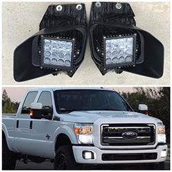 2011-2016 Ford Superduty Foglight F250 F350 5.5 inch Work Light Kit - OffroadLEDbars