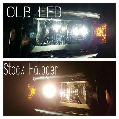 2014 2015 2016 Silverado 2500 40 inch light bar behind grille