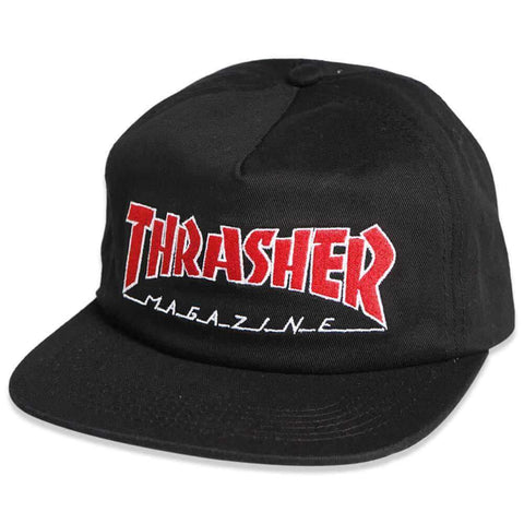 Thrasher Cap Outlined Snapback Black