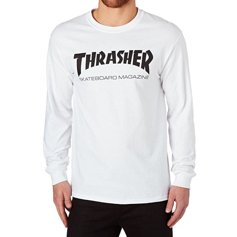 Thrasher Long Sleeve T-Shirt White