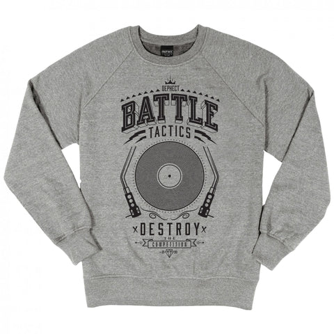 Dephect - Battle Tactics Crewneck Heather Grey