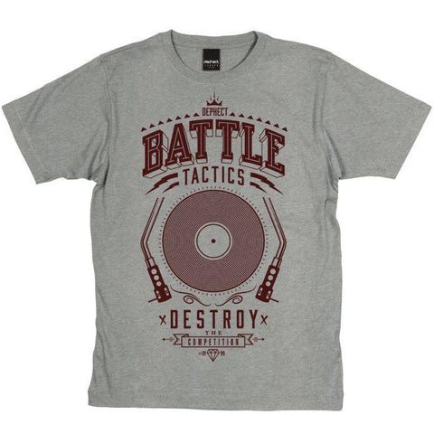 Dephect - Battle Tactics T-Shirt Heather Grey