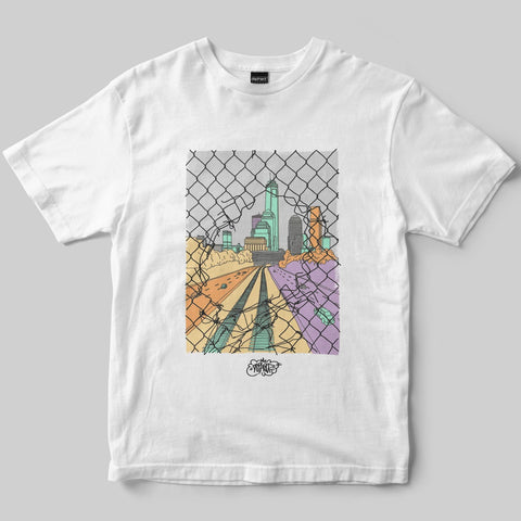 Dephect - T-Shirt - Chainlink - White