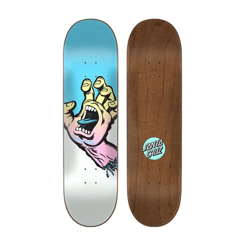 Santa Cruz Team Deck Screaming Hand Blue/Silver 8.6 Inch