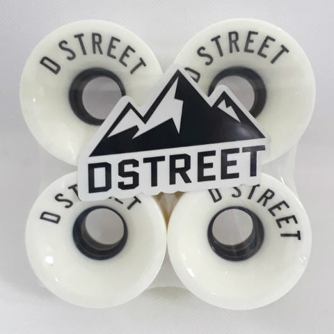 D Street Longboard Wheels - White - 59mm