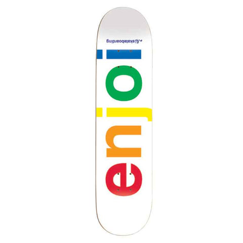 Enjoi Spectrum (White) - Deck - 7.75