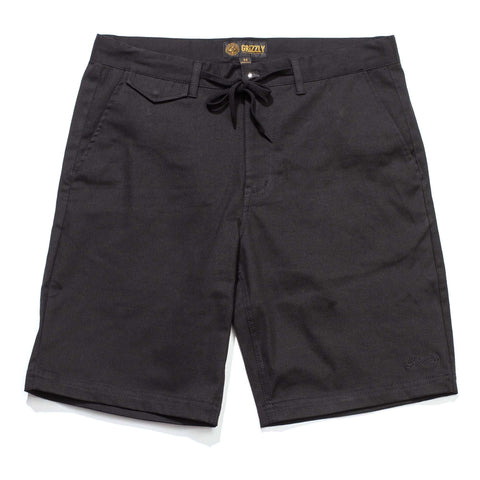 Grizzly Refuge Chino Shorts - Black - 28
