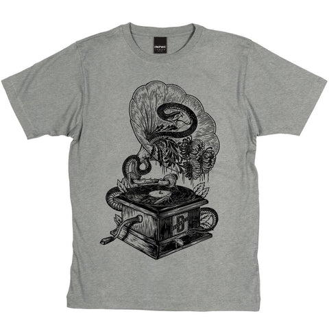 Dephect -  T-Shirt - Gramophone - Heather Grey