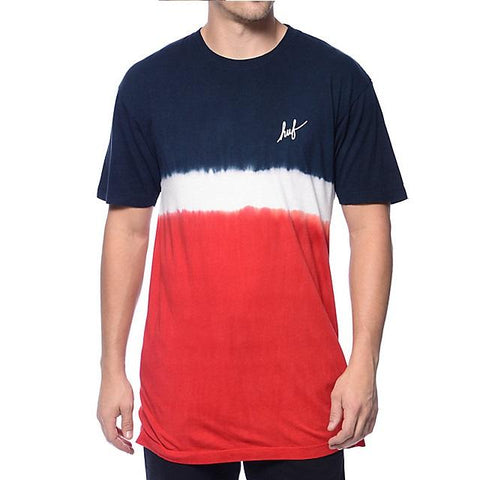 Huf Stripe Wash T-Shirt - Red