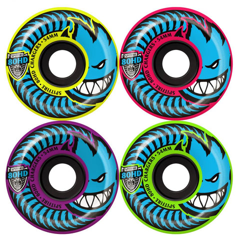 Spitfire Wheels 80HD Conical Mashup Yellow/Pink/Purple/Green 54 MM