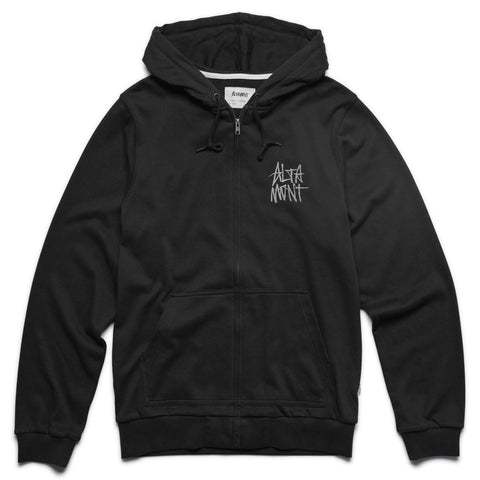 Altamont Stacked Logo - Zip Hoodie - Black/White