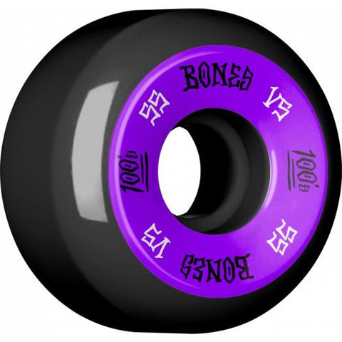 Copy of Copy of Copy of Bones Wheels 100's #1 V5 55 MM Purple/Black
