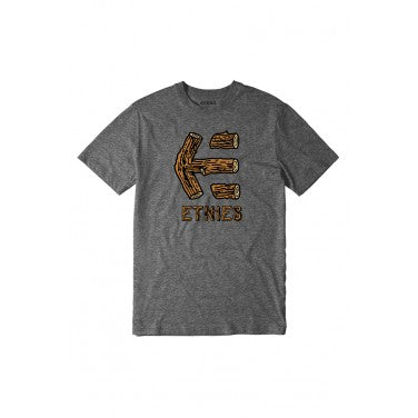 Etnies Wood Stack T-Shirt - Charcoal