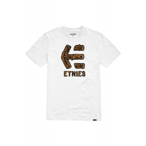 Etnies Wood Stack T-Shirt - White