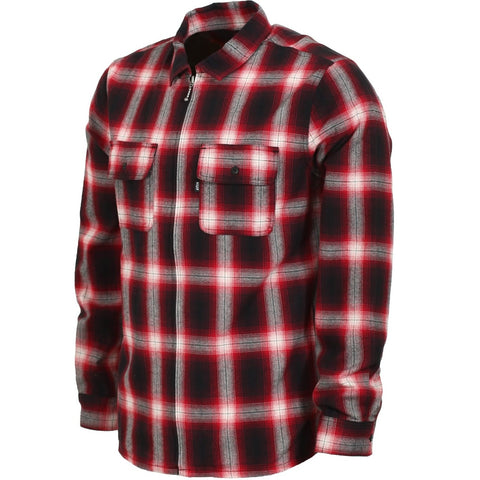 Huf Folsom Plaid Jacket - Red
