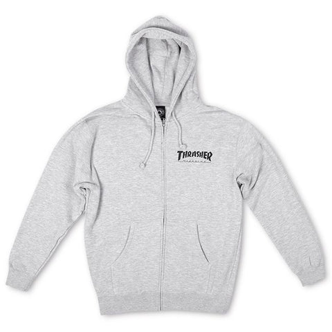Thrasher Zip Hoody Logo Grey