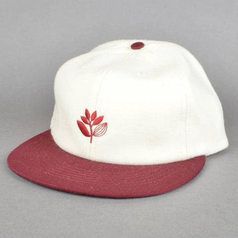 Magenta Plant Wool 6 Panel White/Burgundy