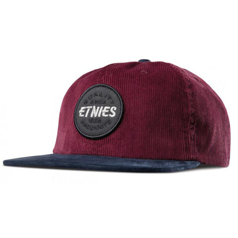 Etnies Patched Snapback Burgundy