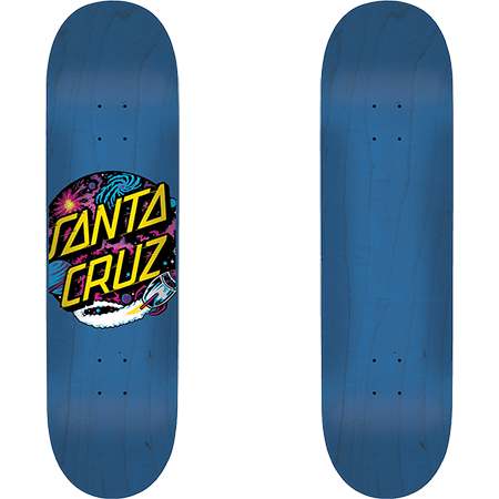 Santa Cruz Team Deck Space Dot Hard Rock Maple Blue 7.5 Inch