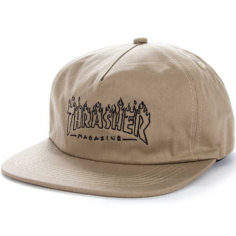 Thrasher Snapback Cap - Witch - Tan