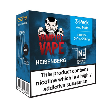Vampire Vape 3PK NS20 Pod 20mg and 10mg