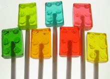 Building Brick Lollipops 1  Inch 8PCS