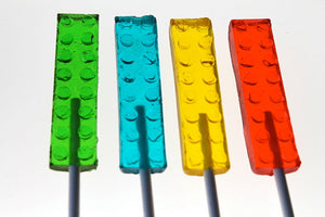 Building Brick Lollipops 3 Inches 8 PCS