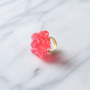 a candy ring pop in the shape of a rose