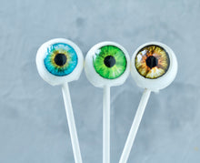 Eye Ball Lollipop - Halloween Party Favor - Human Eye Candy - 9 Lollipops