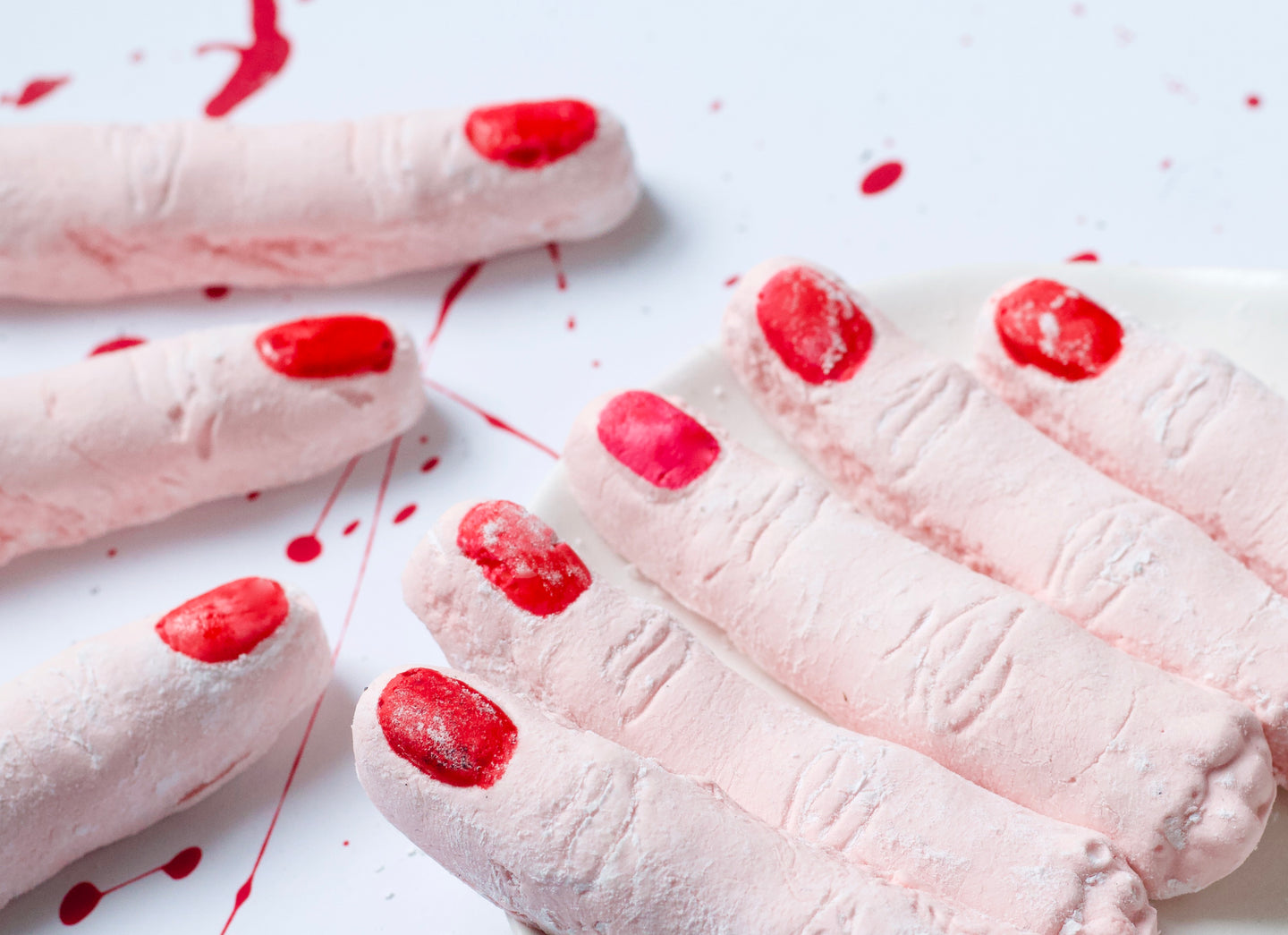 Severed Finger Marshmallows - Halloween Party - 16 Fingers