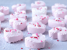 Valentines Piped Marshmallow Hearts 12PCS
