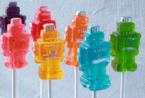 Robot Lollipops 8 PCS