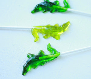 Crocodile/Aligator Lollipops 8 PCS