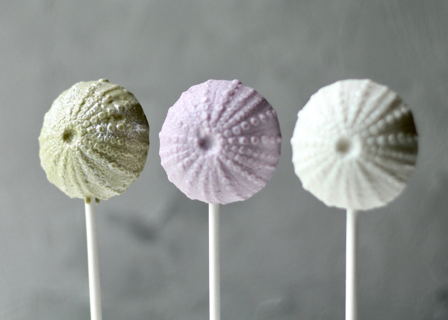 sea urchin lollipops modeled from a realistic sea urchin . Great for sea/ocean themed parties