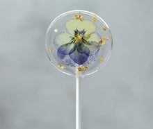 Viola Pansy Flower Lollipops 24 K Gold Leaf | 8 PCS| 2 Sizes