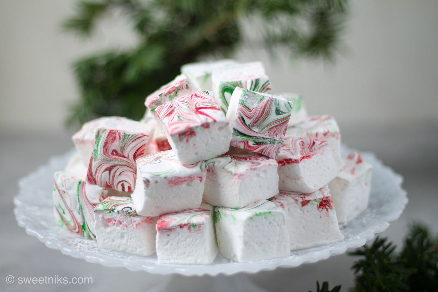 Peppermint Swirl Christmas Marshmallows - Holiday Hostess Gifts - Christmas Party Favors - Holiday Treats -16-45 PCS