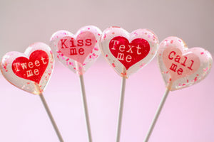 Conversation Message Heart Lollipops 8 PCS