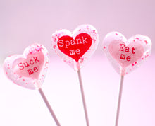 X rated Conversation  Heart Shape  Valentine Lollipops 8 PCS