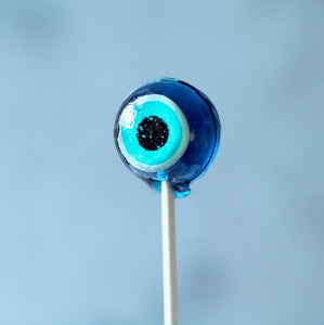 Evil Eye Halloween Lollipops  Flat or 3D Ball - 8 Pieces