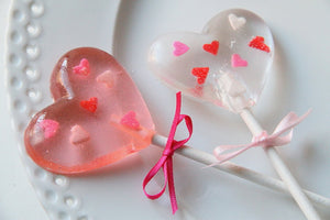 Gift Box Set of 6 or 12PCS Valentines Heart Lollipops