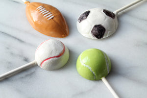 Tennis / Baseball /Soccer/Football/Rugby Ball Lollipops 8 PCS