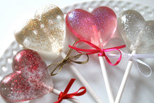 Sparkle Heart Lollipops 8 PCS
