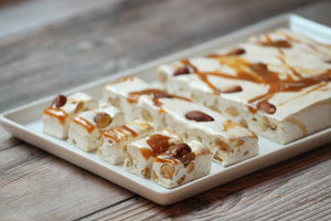 Roasted Almond  salt caramel nougat 1 pound or 1 1/4 pound